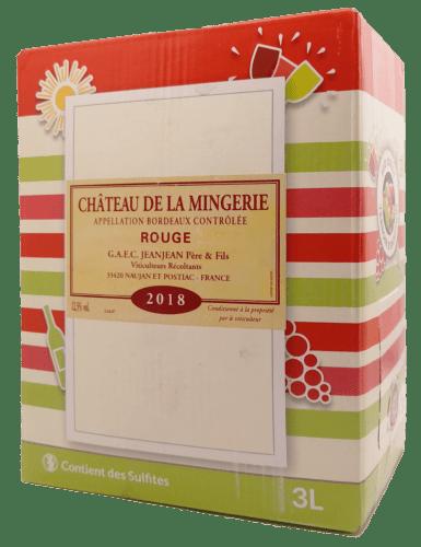 Bordeaux Rouge Château de la Mingerie 3 L
